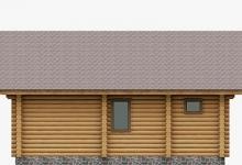 Дом из оцилиндрованного бревна W-63