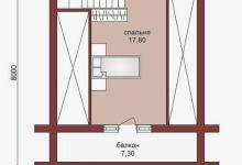 Дом из оцилиндрованного бревна W-66