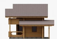 Дом из оцилиндрованного бревна W-71