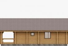 Дом из оцилиндрованного бревна W-76