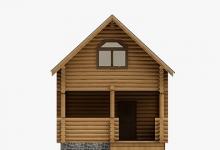 Дом из оцилиндрованного бревна W-78
