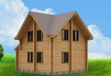 Дом из оцилиндрованного бревна W-90
