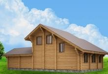 Дом из оцилиндрованного бревна W-125