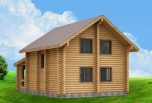 Дом из оцилиндрованного бревна W-126