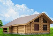 Дом из оцилиндрованного бревна W-129