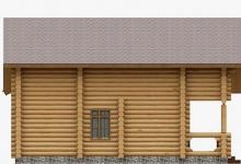 Дом из оцилиндрованного бревна W-133