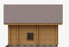 Дом из оцилиндрованного бревна W-136