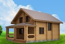 Дом из оцилиндрованного бревна W-138