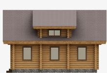 Дом из оцилиндрованного бревна W-139