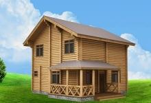 Дом из оцилиндрованного бревна W-146