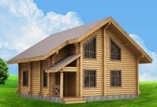 Дом из оцилиндрованного бревна W-149