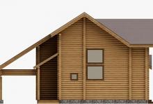 Дом из оцилиндрованного бревна W-153