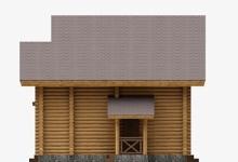 Дом из оцилиндрованного бревна W-155