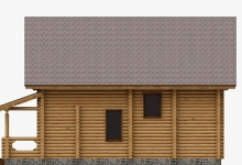 Дом из оцилиндрованного бревна W-156