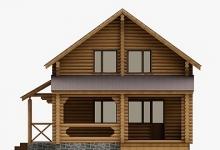 Дом из оцилиндрованного бревна W-160