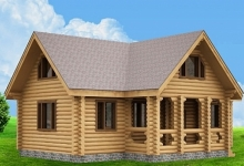 Дом из оцилиндрованного бревна W-164