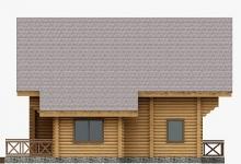 Дом из оцилиндрованного бревна W-179