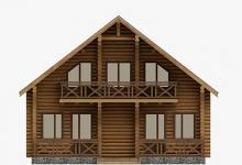 Дом из оцилиндрованного бревна W-182