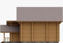 Дом из оцилиндрованного бревна W-189