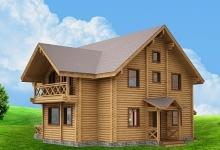 Дом из оцилиндрованного бревна W-236