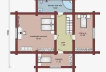 Дом из бруса W-164-1