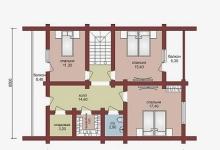 Дом из бруса W-179-1