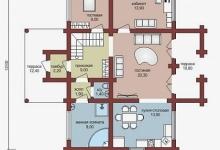 Дом из бруса W-181-1
