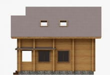 Дом из бруса W-184-1
