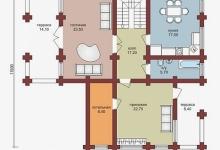 Дом из бруса W-219-1