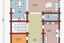 Дом из бруса W-231-1