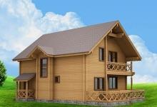 Дом из оцилиндрованного бревна W-236-1