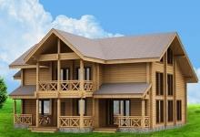 Дом из оцилиндрованного бревна W-429-1