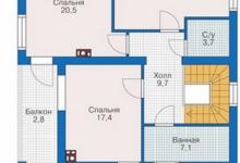 Дом из блоков Аким