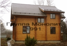 Дом из оцилиндрованного бревна Новгородец