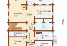 Дом из блоков J-272-1D