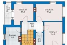 Дом из блоков 57-07
