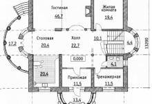 Дом из блоков S-541-1K