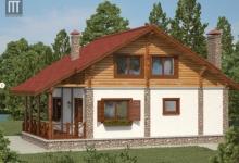 Комбинированный дом Шале 10