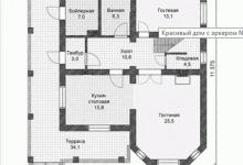 Дом из блоков V-166-1P