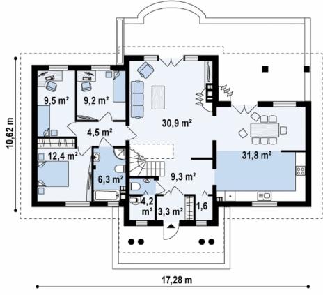 Дом из блоков Z20