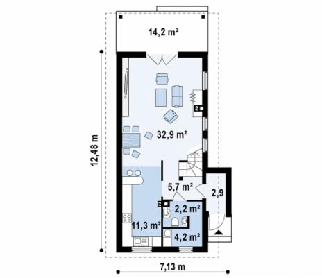 Дом из блоков Z25