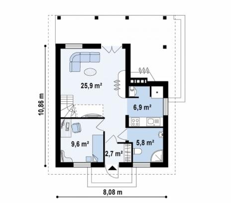 Дом из блоков Z30 L