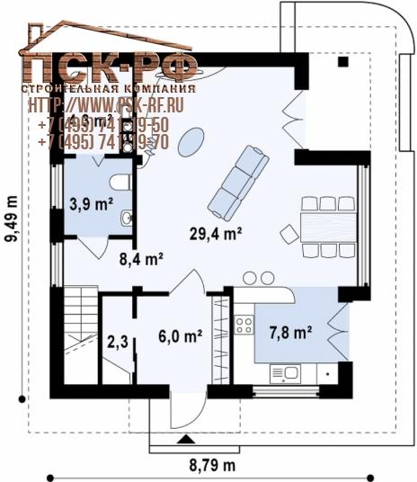 Дом из блоков Z47