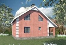 Дом из блоков B-081