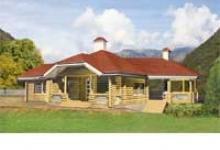 Деревянный дом B-112-1D