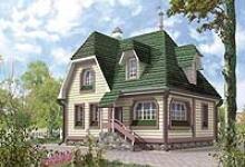 Деревянный дом D-132-1D
