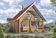 Деревянный дом E-116-1D