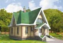 Деревянный дом G-131-1D