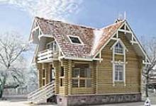 Деревянный дом H-134-1D