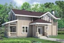 Деревянный дом I-131-1D